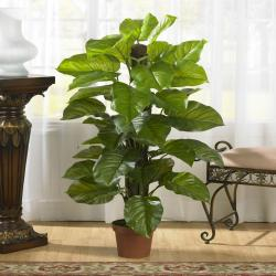 Large 52-inch Leaf Philodendron Silk Plant (Real Touch)