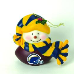 San Diego Chargers Musical Snowman Ornament 8470452