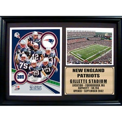 Encore Select 2011 New England Patriots Photo Stat Frame (12x18)