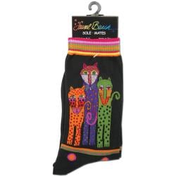 Laurel Burch Women's Polka Dot/ Leopard Socks