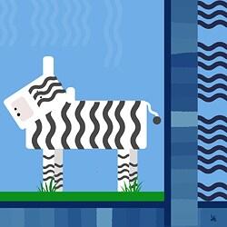 Ankan 'Geo Zebra' Gallery-wrapped Canvas Art