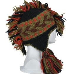 Unisex Knitted Mohawk Beanie (Nepal)