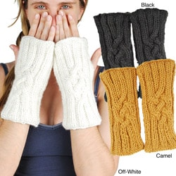 Fleece-Lined Cable-Knit Arm Warmers (Nepal)