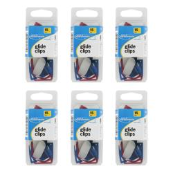 Swingline Work Essentials Assorted Colors Plastic Glide Clips (Pack of 90)