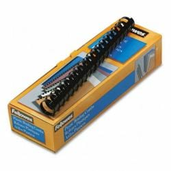Fellowes 52383 1-in Plastic Black Binding Combs (Pack of 10)