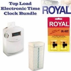 Royal TC100 Top Load Electronic Time Clock Bundle