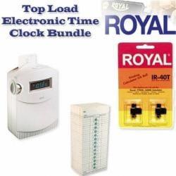 Royal TC100 Top Load Electronic Time Clock Bundle