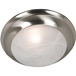 Walton 1-light Brushed Steel Flush Mount
