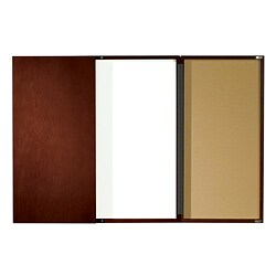 Mahogany-finish Executive Conference Room Dry Erase Board Cabinet