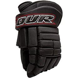 Tour Hockey K-4 Professional-quality Black Roller Hockey Gloves