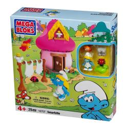 Mega Bloks Smurfs Village Smurfette Mushroom House Play Set