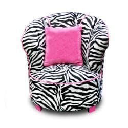 Magical Harmony Kids Minky Zebra Tulip Chair