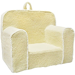 Magical Harmony Kid's Ivory Sherpa Everywhere Foam Chair