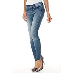 MDZ Women's Kloe Embroidered Pockets Skinny Jeans