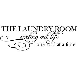 Design on Style 'The Laundry Room Sorting Life Out One Load At A Time' Vinyl Art Quote
