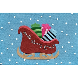 Global Handmade Hope Set of 6 Sleigh Full of Presents Card (Rwanda)