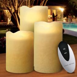 Sarah Peyton 3-piece Flameless Candle Set with Remote
