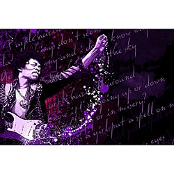 Maxwell Dickson 'Jimi Hendrix Purple Haze' Canvas Wall Art