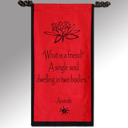 Aristotle 'What is a friend?' Cotton Scroll (Indonesia)