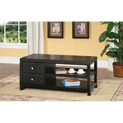 Espresso Coffee Table with Drawers