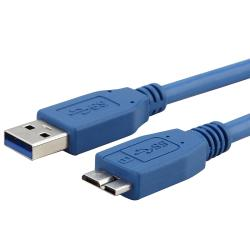 INSTEN Blue 6-feet Super Speed USB 3.0 Type A-B Micro Cable M/ M