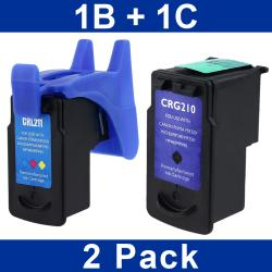 INSTEN Canon PG-210/ CL-211 Black/ Color Ink Cartridge for MP250 (Remanufactured)