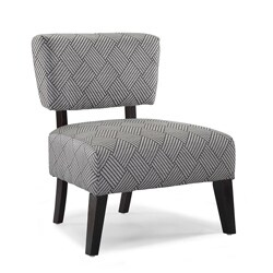 Delano Grey Cross Hatch Accent Chair