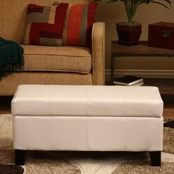Ariel White Storage Bench 8521205