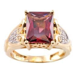 Michael Valitutti 14k Gold Rhodolite Garnet and Diamond Accent Ring