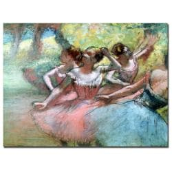 Edgar Degas 'Four Ballerinas on the Stage' Canvas Art