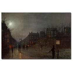 John Grimshaw 'Going Home at Dusk 1882' Canvas Art