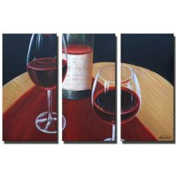 Sophia Lazarri 'Glass Half Empty' Hand-painted Canvas Art