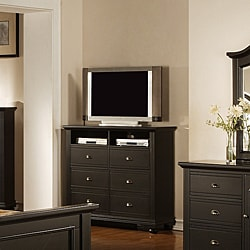 Napa Black 6-drawer Media Chest