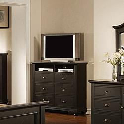 Napa Black 6-drawer Media Chest