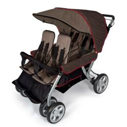 Foundations Quad LX 4-Passenger Stroller in Earthscape