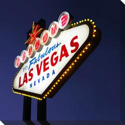Welcome Las Vegas Oversized Gallery Wrapped Canvas