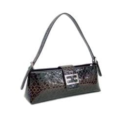 Dasein Patent Leatherette Shoulder Bag