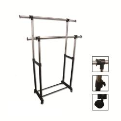 Double Levers Clothes Rack