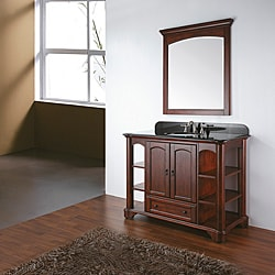 Avanity Vermont 36-inch Single Vanity in Mahogany Finish with Sink and Top