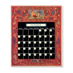 Rooster Red Perpetual Calendar