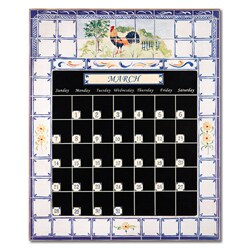 Rooster Blue Perpetual Calendar