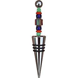 Beadwork By Julie Blue Beaded Wine Bottle Stopper 8547898