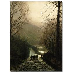 John Atkinson Grimshaw 'The Timber Waggon' Canvas Art
