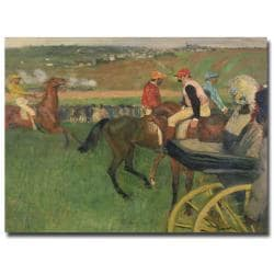 Edgar Degas 'The Race Course' Canvas Art