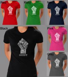 Los Angeles Pop Art Women's Occupy Wall Street Fight The Power T-shirt