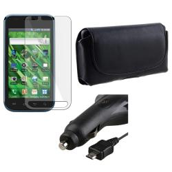 INSTEN Leather Phone Case Cover/ Screen Protector/ Car Charger for Samsung Vibrant T959