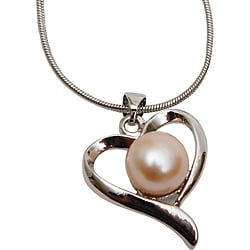 Premium Pink Freshwater Pearl Heart Necklaces (Case of 100)