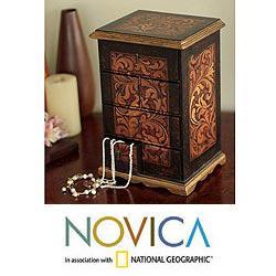 Cedar Wood 'Royal Legacy' Jewelry Box (Peru)