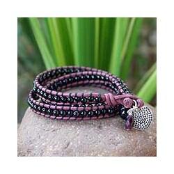 Silver 'Heart of Love' Multi-gemstone Bracelet (Thailand)