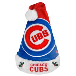 Chicago Cubs 2011 Colorblock Runoff Logo Santa Hat